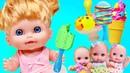 Играем в Куклы-Пупсики кушают мороженное из Плей До/Лепим из пластилина-видео для девочек/Зырики ТВ