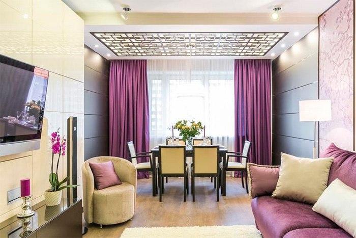 Потолочные шторы в зал — советы и рекомендации по выбору, изображение №2
