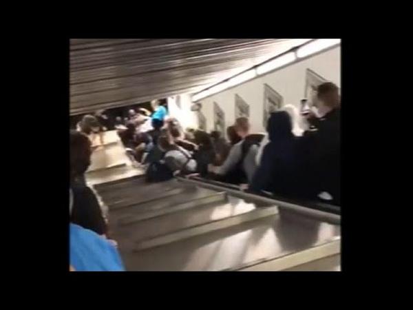 Un spectaculaire accident d'escalator