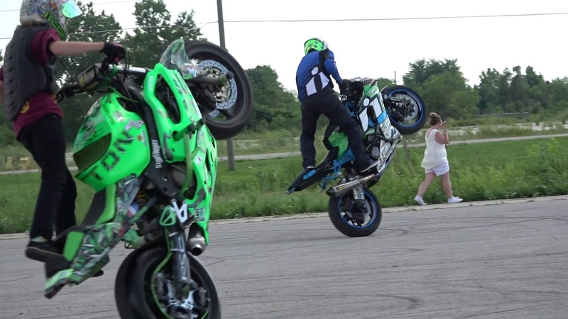 Motorcycle STUNT DAY riding with Kyle Sliger ,Jason Britton and more