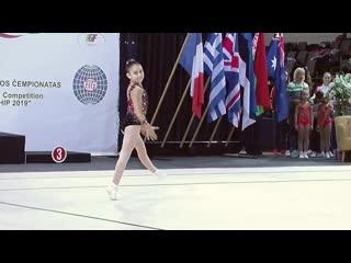 2nd international ltu open aerobic gymnastics championship. nd2 iw. alina sazonova