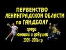 Первенство Ленинградской области по гандболу среди юношей и девушек 2005-2006 г.р. в Волхове