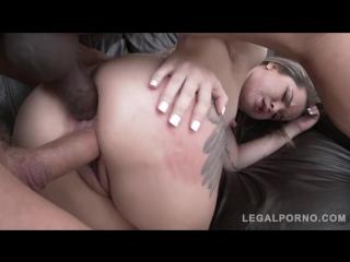 Alice Alcantara - Latina slut assfucked, DPed pissed all over, mfm double penetration dp anal porno
