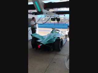 Shakedown now underway as tomdillmann in the 8 heads out onto track for the first time fiaformulae santiagoeprix acronisracing