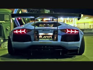 INSANE FLAMES! Lamborghini Aventador LP720-4 Ft. Liberty Walk_Armytrix_Airrex_Fo