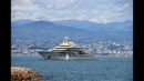 The Mighty US$ 800 Million Yacht Dilbar berthing in Antibes