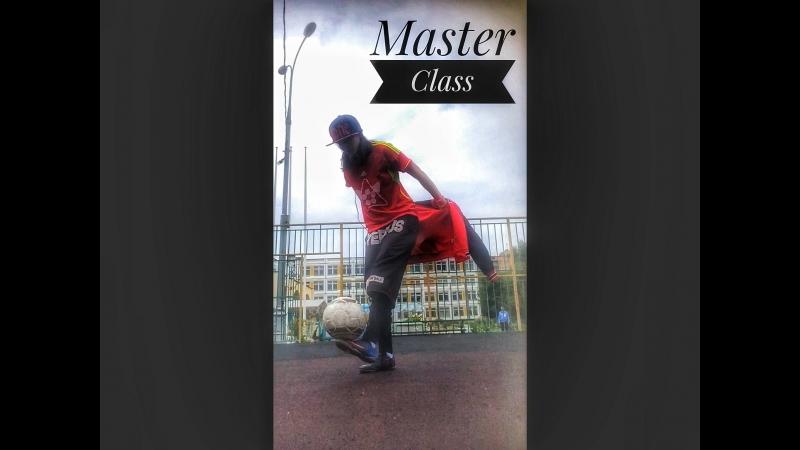 Мастер Класс с курткой набивая мяч обеями ногами, для Сергея Броницкого