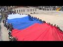 Największą na świecie rosyjską flagę pokazano na Krymie