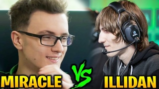 MIRACLE INVOKER vs  ILLIDAN LINA - Hard Game Indeed