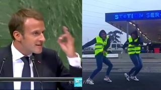 Gilets Jaunes Dancing Macron