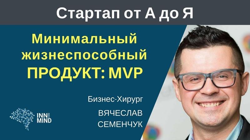 MVP Минимальный жизнеспособный продукт Вячеслав Семенчук СтартапОтАДоЯ