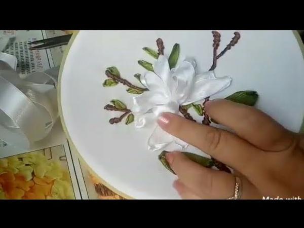 102-D. I. Y Ribbon embroidery /Hướng dẫn thêu hoa mộc lan