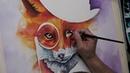 Fox - watercolor painting