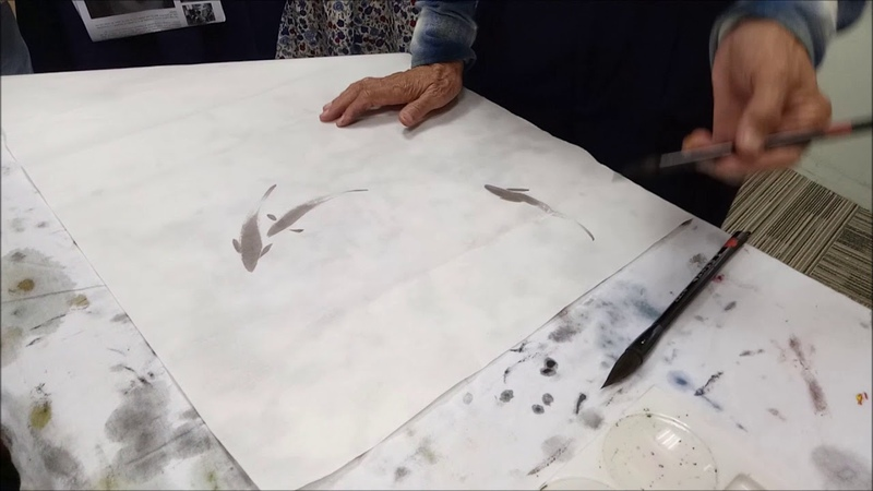 Chinese Ink Painting: Fish