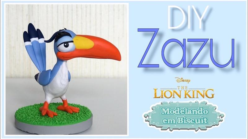 DIY - Zazu | O Rei Leão | Modelando em Biscuit