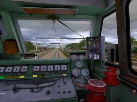 Траинз симулятор 2009 ЧС 4т на маршруте Яр Транссиб Trainz Simulator 2009 Chs4t 519 Yar Transsib