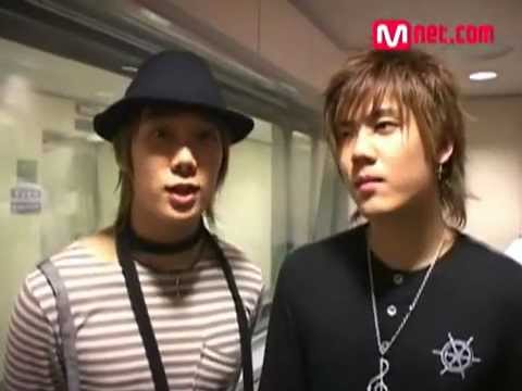 SS501 Kyu Jong Jung Min BTS at Young Street Interview with Goto Maki 060909