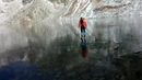 Walking on beautiful clean ice