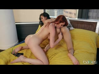 Lesbian, outie pussy, small tits, piercing, tattoo, caucasian, red head, bald pussy, innie pussy, 1080p