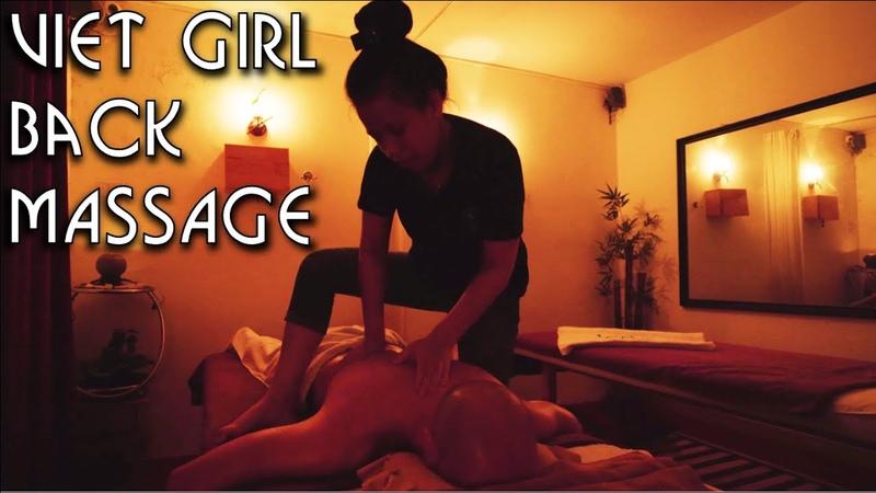 💆 Vietnamese Girl Back Massage in a Dark Room ASMR no Talking