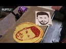 Say cheese! St. Petersburg restaurant makes portraits of footballers in pizza