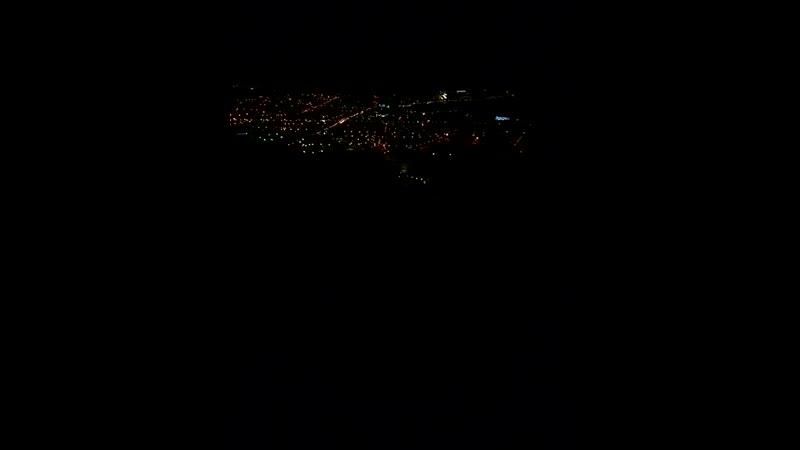 спуск ночью с Олимпа по канатной дороге