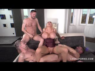 Busty Sex Crazed Milf Sophie Anderson gets her Tight Ass DAPed by 3 Cocks