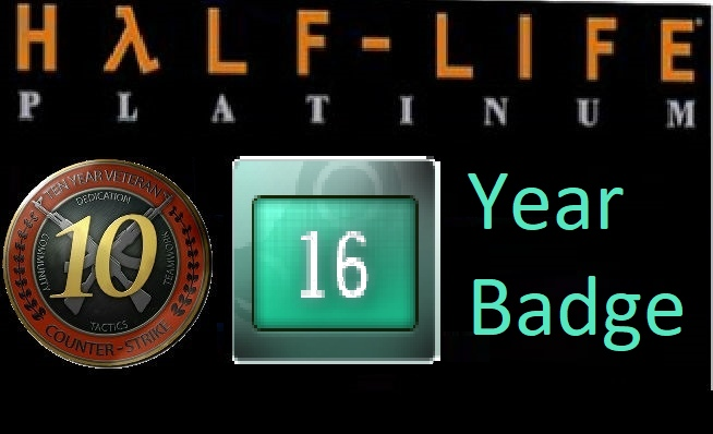 UNLIMITED ACCOUNT 16 Year Badge 6 digits 10LVL CS 1.6 + CSS + CoD BO + L4D2 + OE