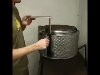 Барбекю из барабана от стиральной машинки