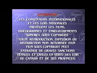 VHS Opening #274 Opening to my 2003 or 2004 French Canadian VHS of The Core