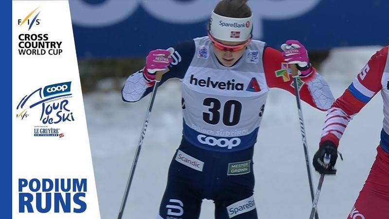 Ingvild Flugstad Oestberg Ladies' 10 km Toblach 2nd place FIS Cross Country