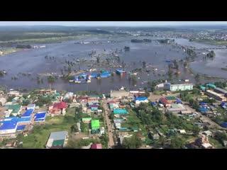 Сразу в нескольких регионах МЧС России помогает справиться с последствиями паводка