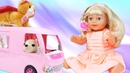 Беби Бон Эмили и Маша Капуки. Готовим завтрак для куклы. Игра готовка на Капуки девочки