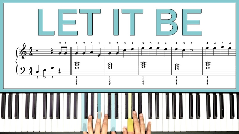 How to play LET IT BE by The Beatles on the piano -- Playground Sessions