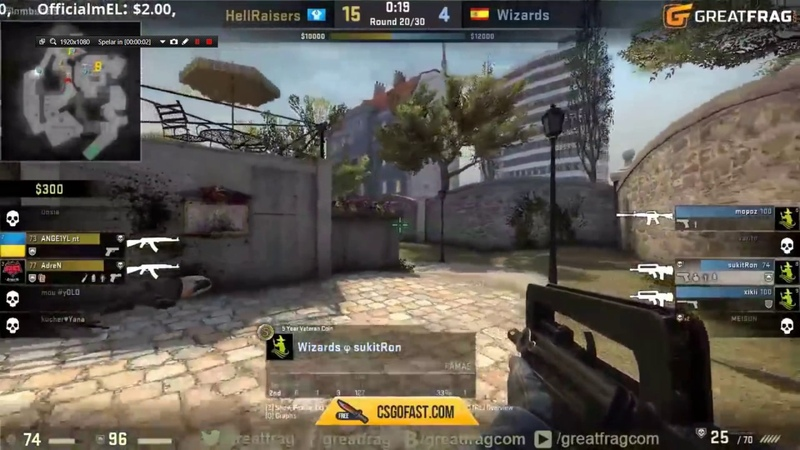 CS:GO Hellraisers Adren insane flickshot vs Wizards