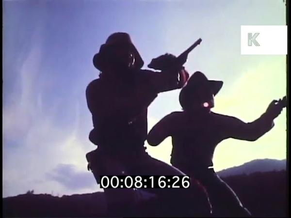 Cowboy Shoot Out, Wild West Gun Fight, 1970s USA
