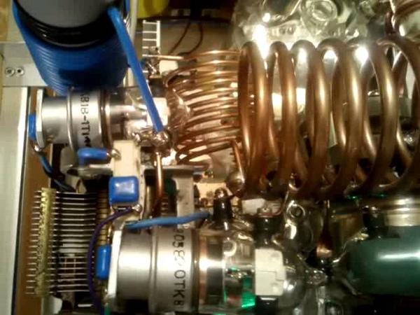 Vostok - 1.5 KW HF linear amplifier using GU-81M ( GU81 GU81M ГУ81 ГУ-81М ГУ81М) tube - by YO6PMX