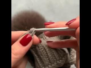 Как легко и просто вязать завязки на шапочке