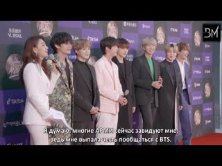 RUS SUB BTS Interview @ Golden Disc Awards Red Carpet