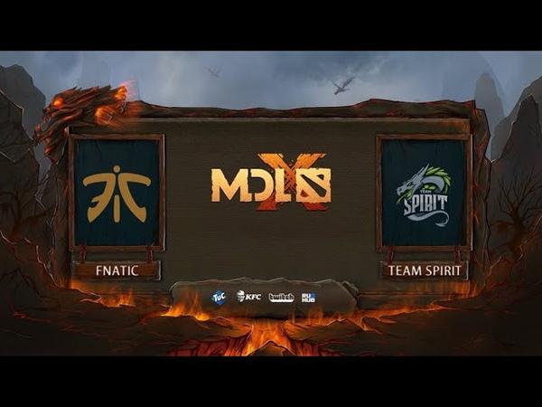 Fnatic vs Team Spirit, MDL Chengdu Major, bo3, game 1 [Adekvat Mortalles]