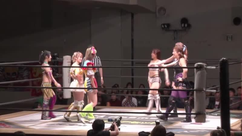 Mina Shirakawa Yuki Kamifuku Yuna Manase vs Natsumi Maki Pinano Pipipipi Pom Harajuku