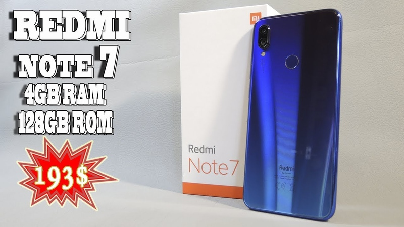 РЕАЛЬНО?! XIAOMI REDMI NOTE 7 4/128 GB всего за 193$ РАСПАКОВКА С АЛИЭКСПРЕСС