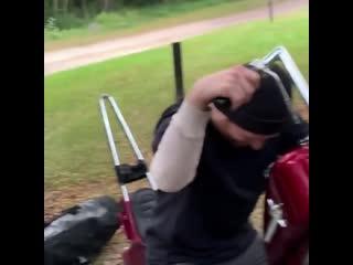 Крутой тюнинг выхлопа у мотоцикла (прикол)