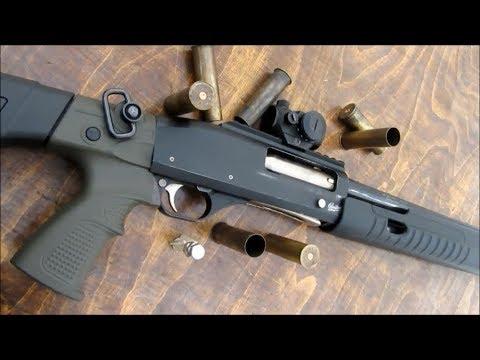 Помповое ружьё выживальщика и пуля Болт Фила Survivalist pump action shotgun