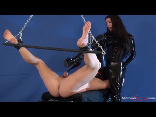 Mistress Susi s Fetish Clips  Ruined orgasm by the Rubber Mistress Forced Ejaculation Forced Male Sperm Cumshot Milking