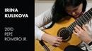 Torroba Sonatina Mvmt 1 played by Irina Kulikova on a 2010 Pepe Romero