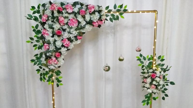 Como Fazer Arco Floral Para Decoração Montar Arco de Flores Para Casamento Festas Ensaio Fotográfico