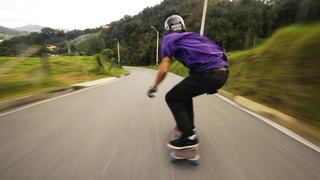 Downhill Skateboarding w/ Esneider Osorno / S1 Helmets