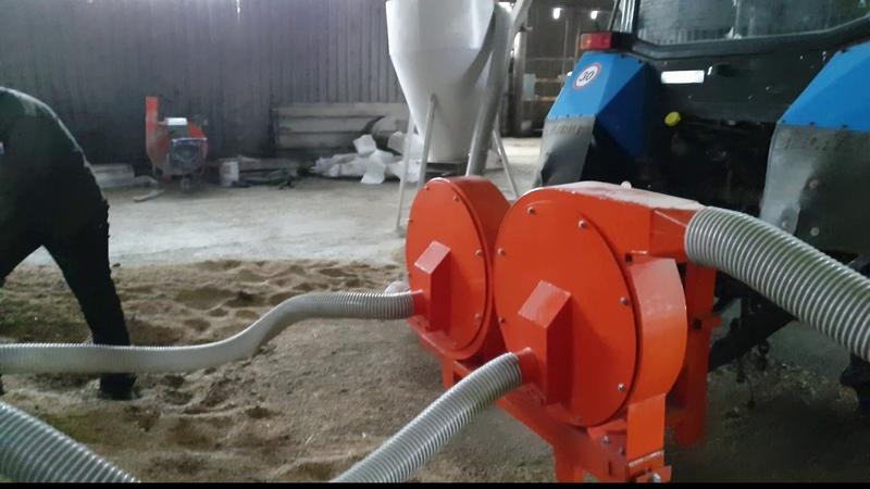 Мобильная установка для дробления зерна от ВОМ
