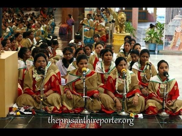 Meera Bhajan Baso Morey Nainan Mein Nandalaal Devotees from Odisha at Prashanthi Nilayam